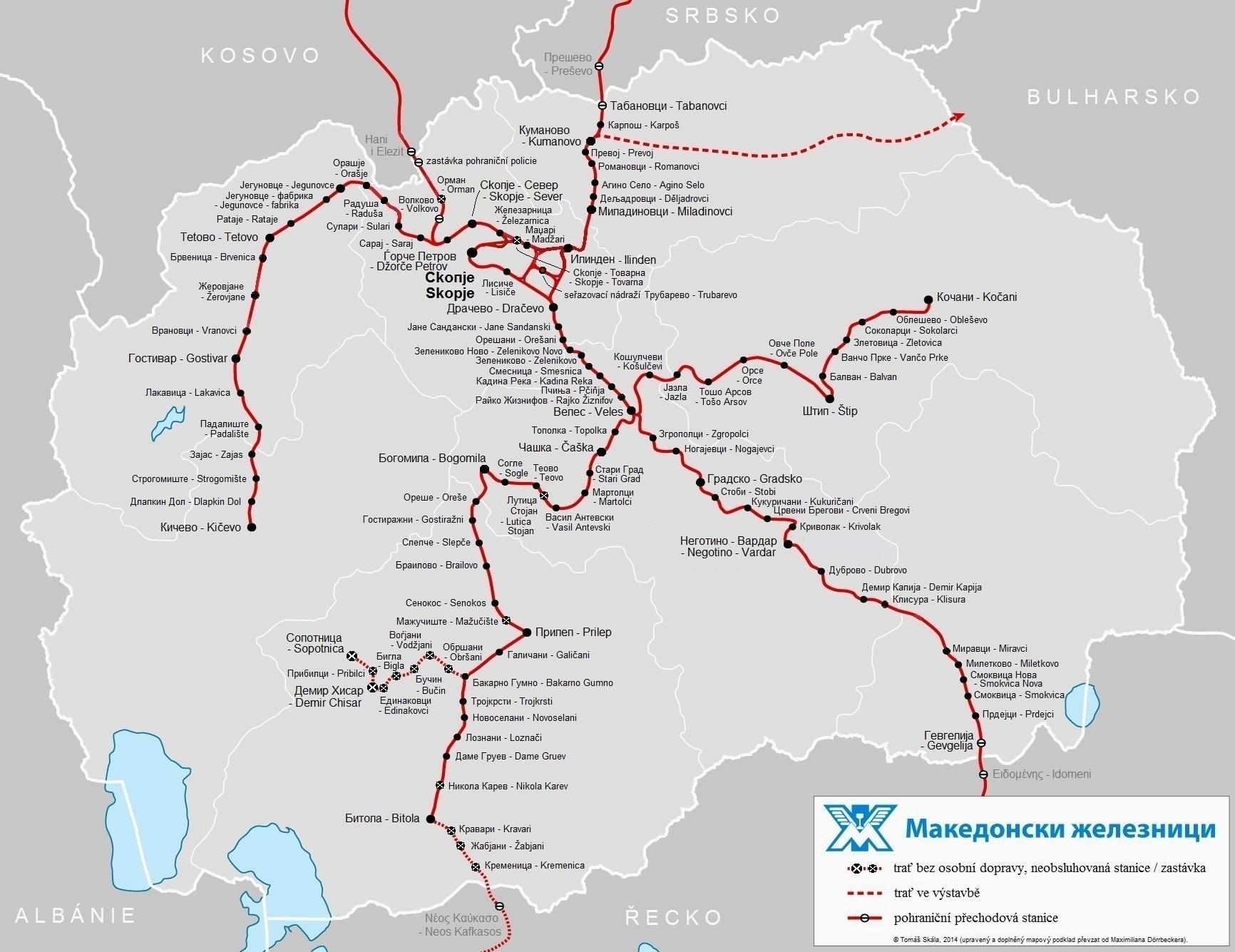 Zeleznice V Republice Makedonie I Dil Zelpage Www Zelpage Cz